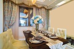 Sala de jantar luxuosa Fotos de Stock Royalty Free