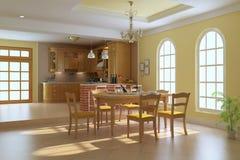 Sala de jantar luxuosa clássica Foto de Stock