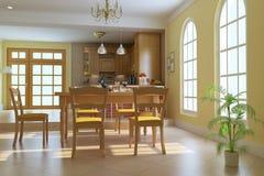 Sala de jantar luxuosa clássica Imagens de Stock