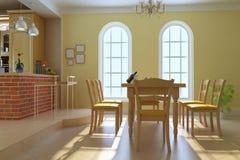 Sala de jantar luxuosa clássica Fotos de Stock Royalty Free