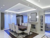 Sala de jantar minimalista moderna foto de stock