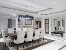 Sala de jantar minimalista moderna imagem de stock royalty free