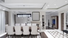 Sala de jantar minimalista moderna fotografia de stock royalty free