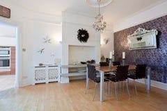sala de jantar moderna à moda Fotografia de Stock