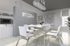 Sala de jantar moderna Ilustração Royalty Free