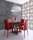 Sala de jantar moderna Imagem de Stock Royalty Free