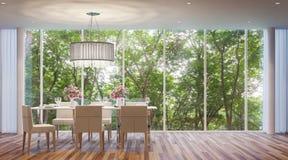 Sala de jantar moderna do estilo Imagens de Stock Royalty Free