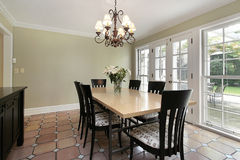 Sala de jantar na HOME luxuosa Fotos de Stock