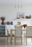 Sala de jantar na moda Imagem de Stock Royalty Free