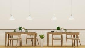 Sala de jantar ou café - rendição 3D Fotografia de Stock Royalty Free