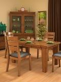 Sala de jantar rústica Fotos de Stock Royalty Free