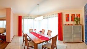 Sala de jantar vermelha Imagem de Stock Royalty Free