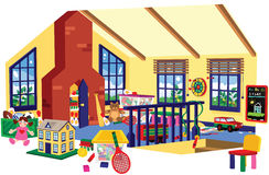 Sala de jogos das crianças Imagem de Stock Royalty Free