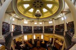 Sala de leitura octogonal hist?rica no terreno da faculdade de Bendigo TAFE fotos de stock