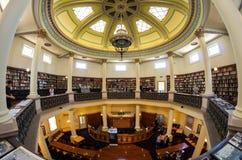 Sala de leitura octogonal hist?rica no terreno da faculdade de Bendigo TAFE foto de stock royalty free