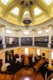 Sala de leitura octogonal hist?rica no terreno da faculdade de Bendigo TAFE imagem de stock