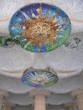 Sala de les Cent Columnes, Parc Guell (Βαρκελώνη) στοκ εικόνες