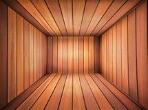 Sala de madeira Imagem de Stock