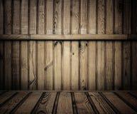 Sala de madeira velha fotografia de stock royalty free