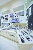 Sala de mando de la central eléctrica Fotografía de archivo libre de regalías