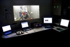 Sala de mando de la prueba del motor Imagen de archivo libre de regalías
