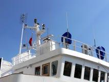 Sala de mando de un barco Fotografía de archivo libre de regalías