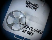 Sala de motor em um navio Imagem de Stock