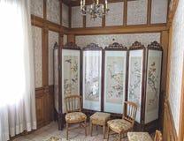 Sala de mudança do palácio de Ceausescu imagens de stock royalty free