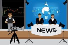 Sala de notícia Foto de Stock