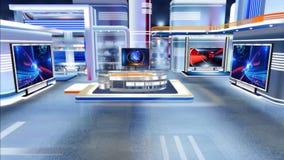 Sala de notícias virtual C1 do estúdio video estoque