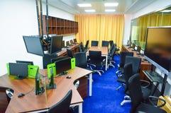 Sala de observação da sala de aula de Microteaching Fotografia de Stock Royalty Free
