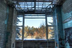 Sala de operações em um hospital abandonado Foto de Stock Royalty Free