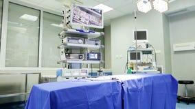 Sala de operações inclinação video estoque
