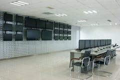 Sala de ordenadores Foto de archivo libre de regalías