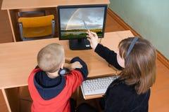 Sala de ordenadores Foto de archivo