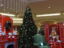 A sala de Papai Noel foto de stock royalty free