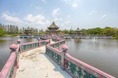 Sala de Ramayana en parc de ville antique, Muang Boran, province de Samut Prakan, Thaïlande photographie stock libre de droits