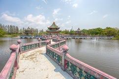 Sala de Ramayana en parque de la ciudad antigua, Muang Boran, provincia de Samut Prakan, Tailandia fotografía de archivo libre de regalías