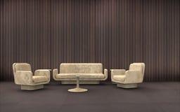 Sala de recepción mínima y composición Imagen de archivo libre de regalías