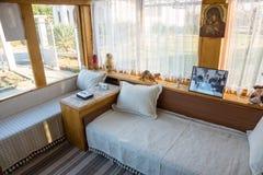 Sala de recepción en la casa de Vanga en Rupite, Bulgaria Foto de archivo libre de regalías