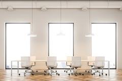 Sala de reunião interior, assoalho de madeira do sótão Fotos de Stock