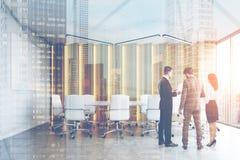 Sala de reunião, opinião da cidade Imagem de Stock