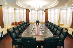 Sala de reunião redonda fotografia de stock