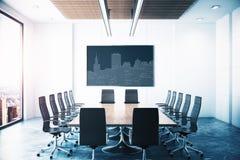 Sala de reunión con la imagen de Circuit City Imagenes de archivo