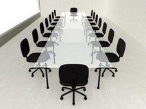 Sala de reunión concreta Fotografía de archivo