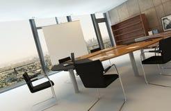 Sala de reunión contemporánea con la mesa de reuniones imágenes de archivo libres de regalías