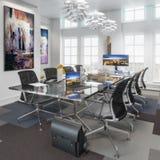 Sala de reunión en detalle del concepto stock de ilustración