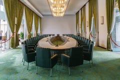 Sala de reunión en palacio de la independencia Fotos de archivo libres de regalías