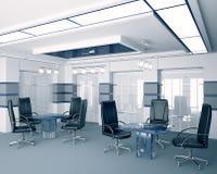Sala de reunión moderna 3d interior Imagen de archivo