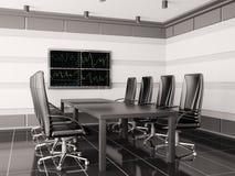 Sala de reunión moderna con lcd 3d interior Fotografía de archivo libre de regalías